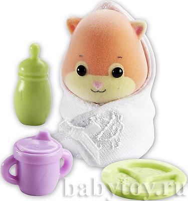 Zhu zhu babies хомячок малыш nanners с одеялом и
