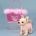 Игрушка мини-собачка чихуахуа + сумочка-переноска.