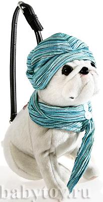 Сумка-собака Мопс Француженка в подарочной упаковке Fuzzynation.