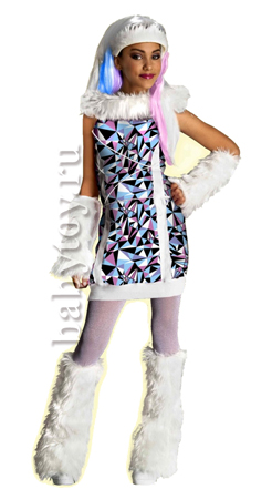 Monster High Костюм для девочки Снежная Эбби Размер М.