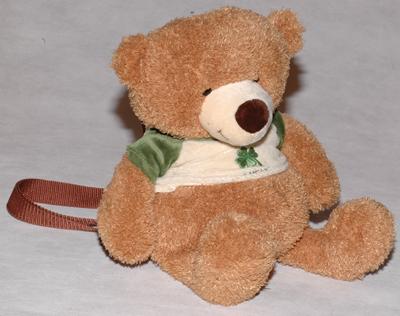 Мишка коричневый-рюкзак (38 см)