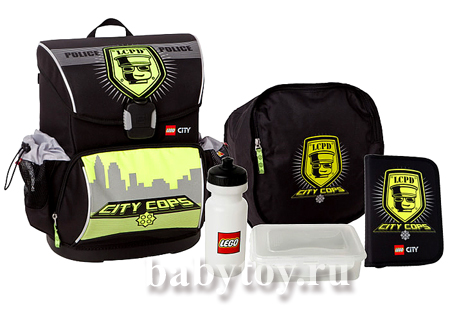 9ec84c9ab5c5 Lego Набор рюкзак+сумка для обуви City Police 28л. - BabyToy