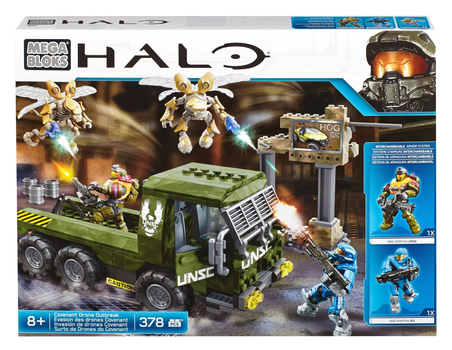 Mega Bloks Игровой набор Halo Covenant Drone Outbreak