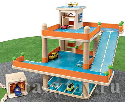 Игрушечный гараж для машинок своими руками