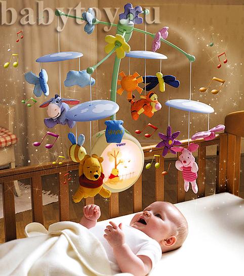 Карусель на кроватку для новорожденных