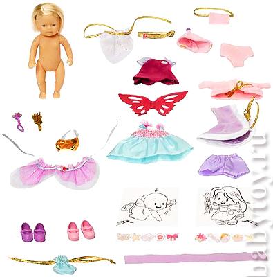 Описание: вязаная одежда для кукол беби бон.
